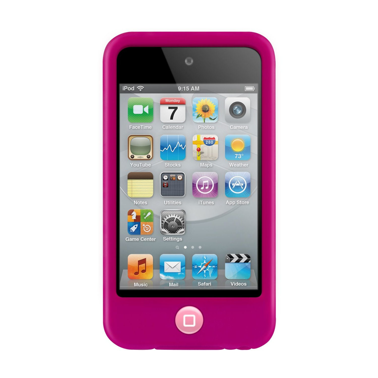 Silicon Case for iTouch 4 (ipod Touch 4th Gen) - Pink
