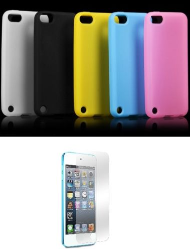 Silicon Case Cover For Apple iPod Touch 5 - Pack of 5 + Free Screen Protector