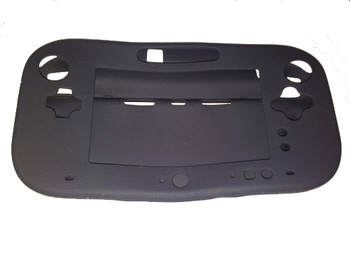 Soft Silicone Cover for Nintendo Wii U Gamepad Controller Protective Case - Black