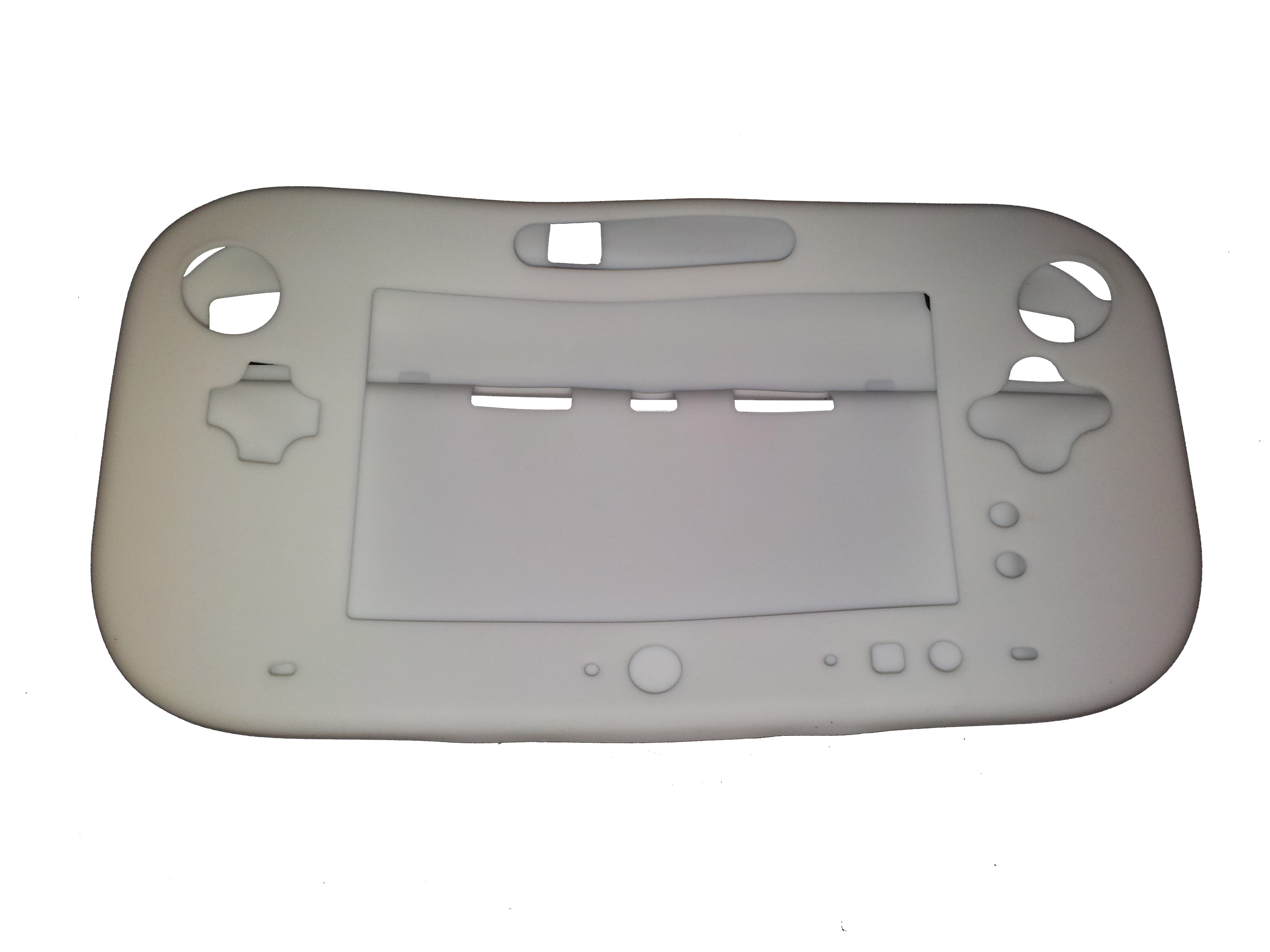Soft Silicone Cover for Nintendo Wii U Gamepad Controller Protective Case - White