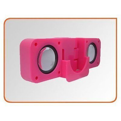 New HOT PINK Stereo Portable Speakers for iPod Nano 2G 3G 1GB/2GB/4GB/8GB