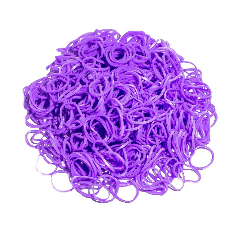 Bag of Purple coloured looms {600 looms in a bag}