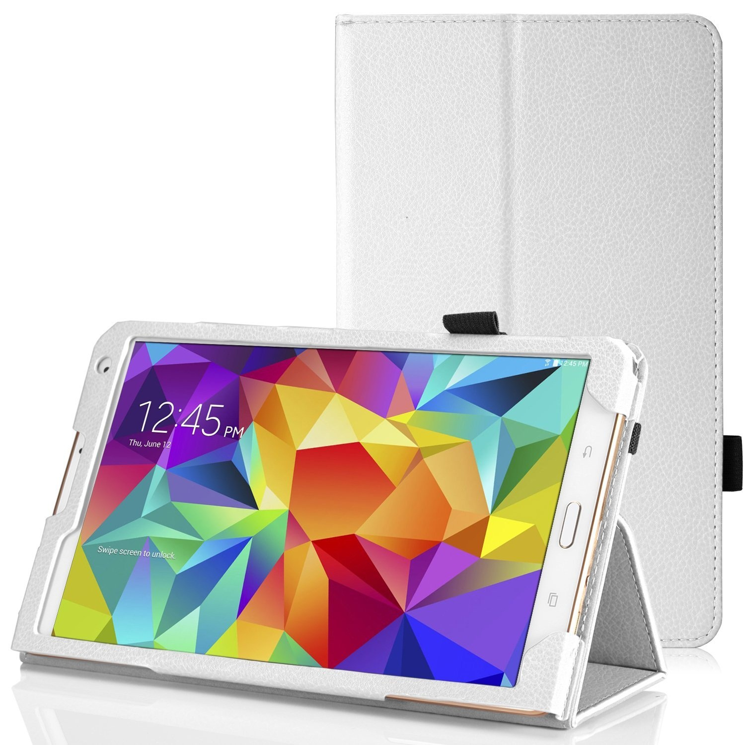 """""""Tablet leather case packs - GALAXY TAB S 8.4 INCH (WHITE) """""""