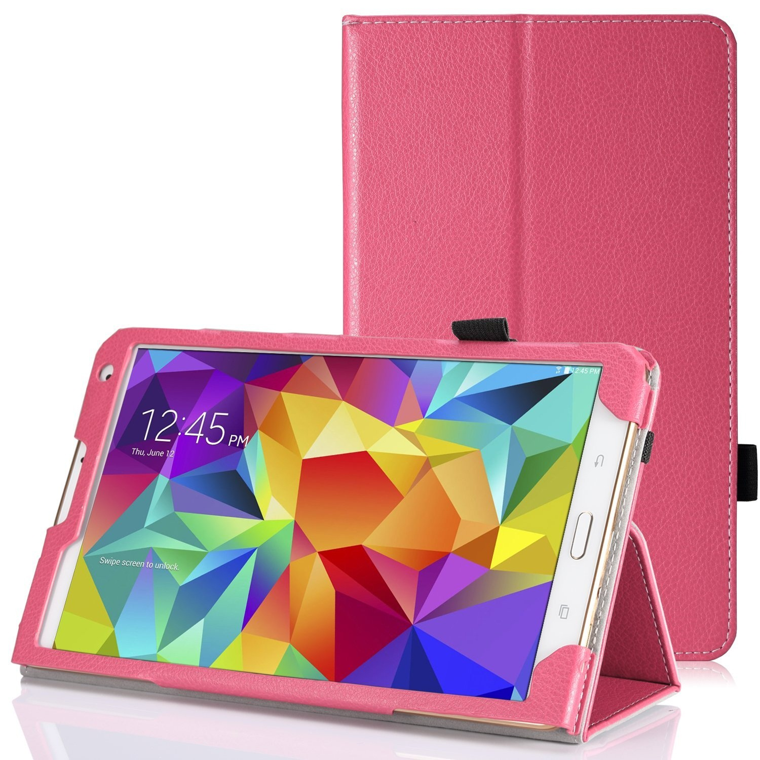 """Tablet leather case packs - GALAXY TAB S 8.4 INCH (HOT PINK) """