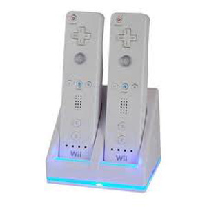 DUAL/TWIN CHARGING AND DOCKING STATION FOR WII REMOTES