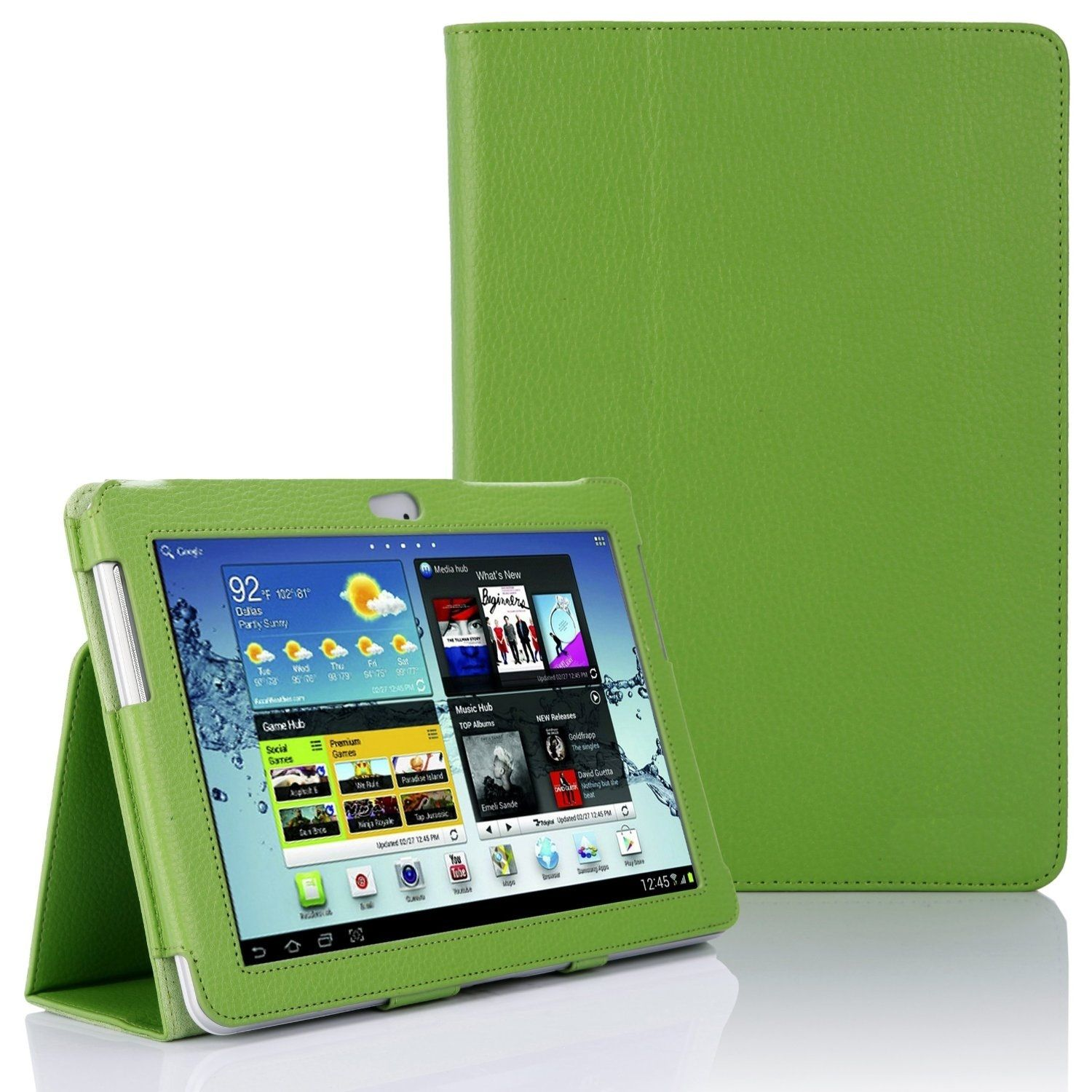 Samsung Galaxy TAB 2 10.1 P5100 - Leather Case Pack - Green