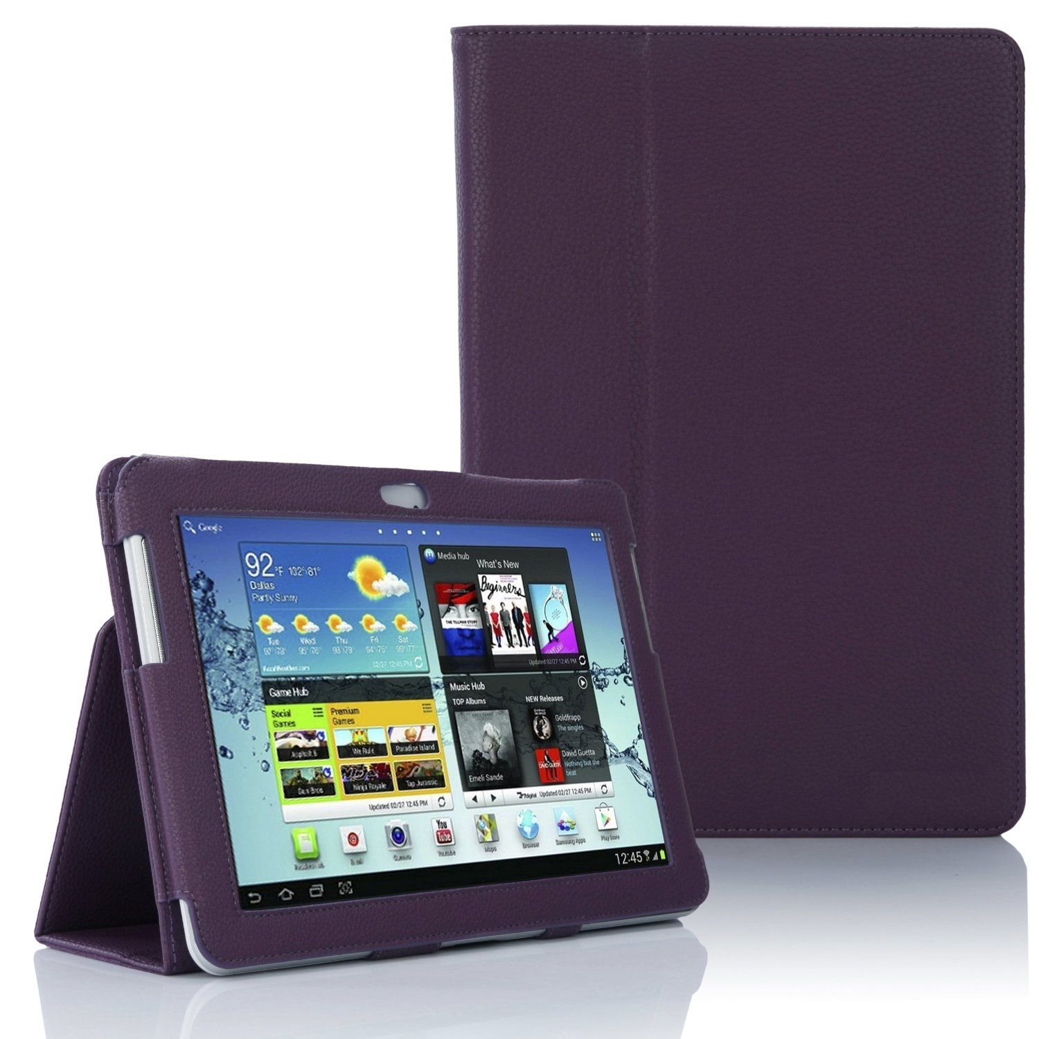 Samsung Galaxy TAB 2 10.1 P5100 - Leather Case Pack - Purple