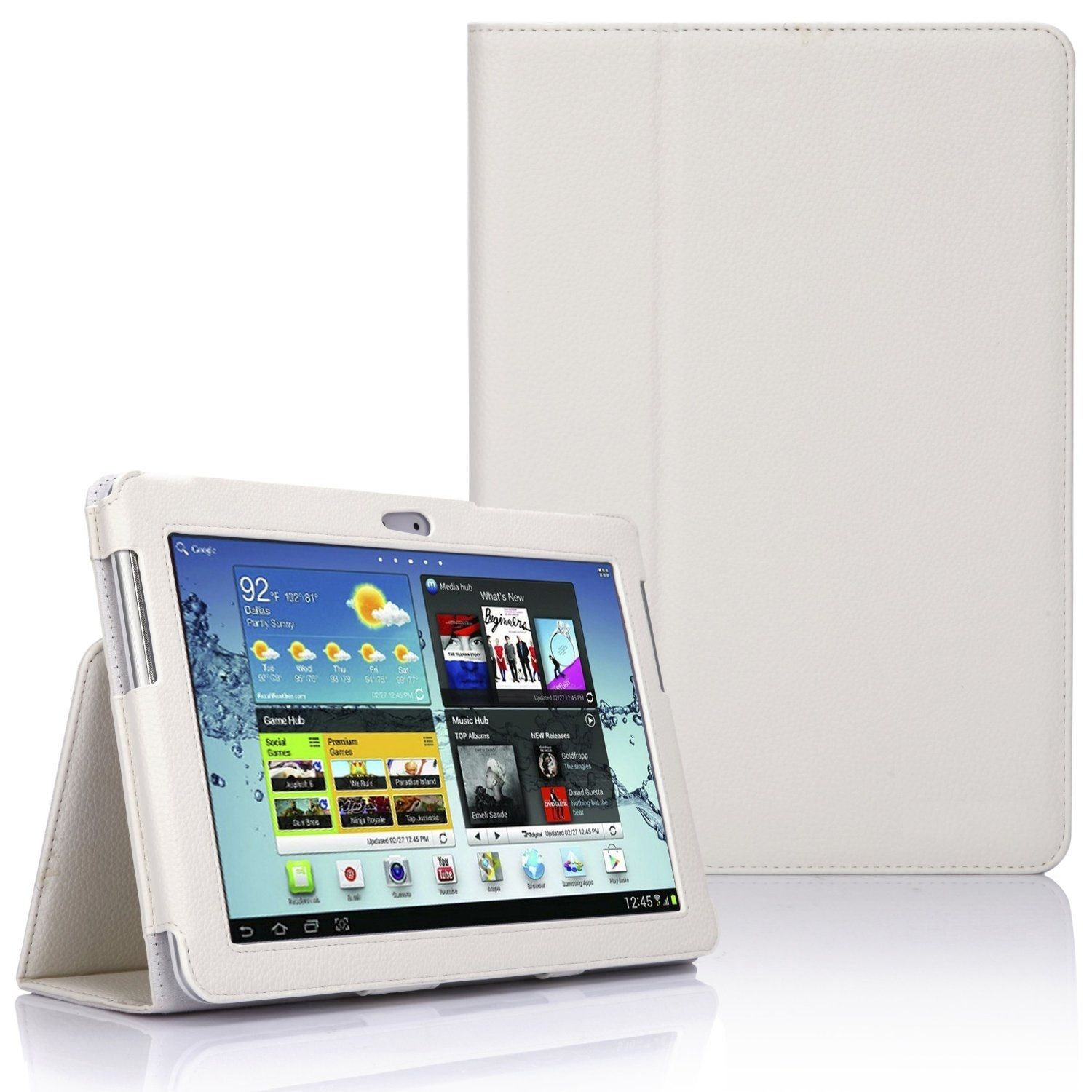 Samsung Galaxy TAB 2 10.1 P5100 - Leather Case Pack - White