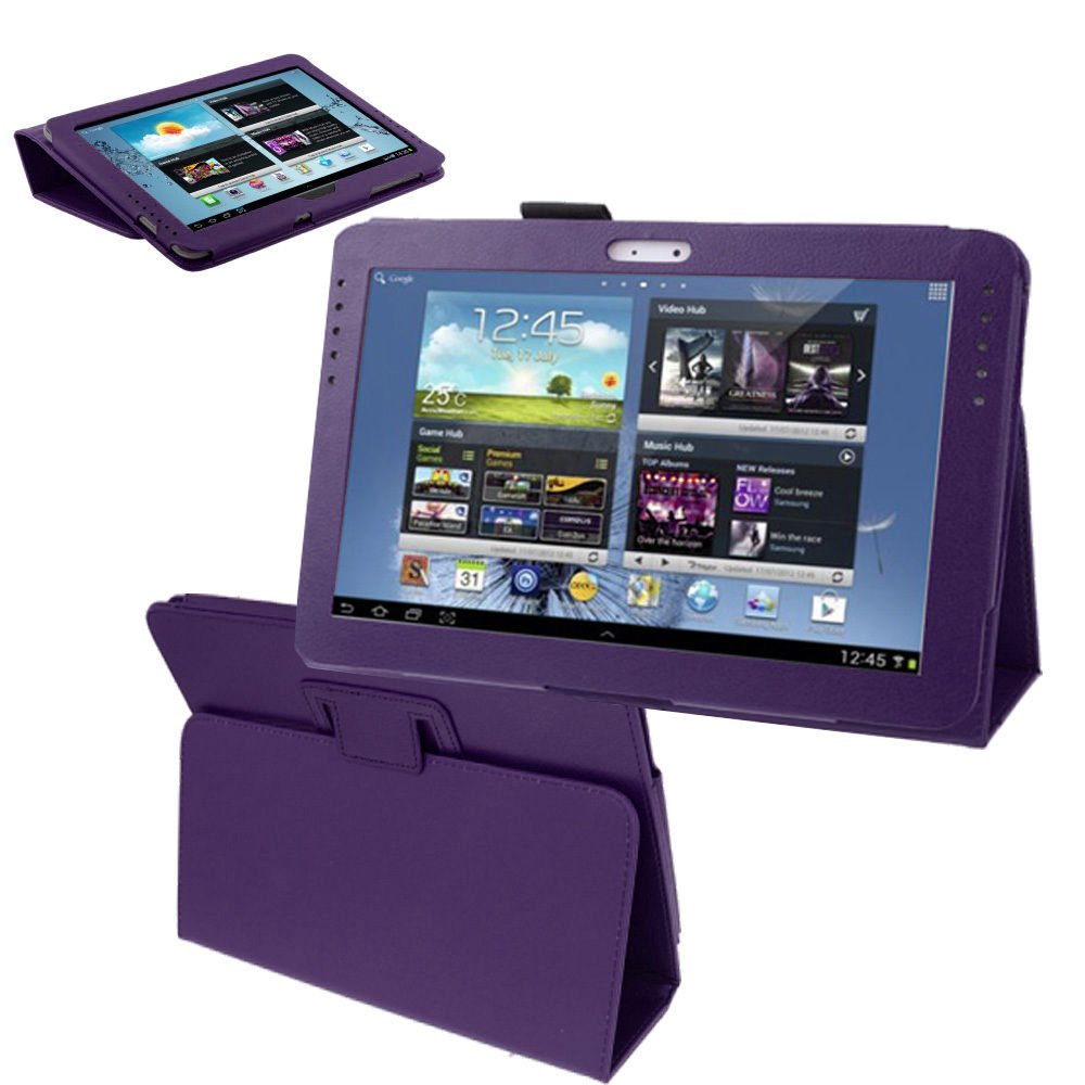 Samsung Galaxy TAB 3 10.1 P5200 - Leather Case Pack - Purple