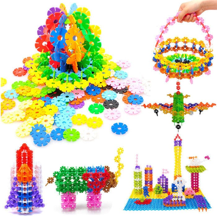 New 200 Pcs sets A Creative and Educational Building Block Puzzle Flakes